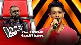 Sachintha Deshan | Kimada Nawe (කිමද නාවේ) | Blind Auditions | The Voice Teens Sri Lanka