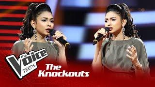 Himasha Umayandi   Hemin Sare Piya Wida (හෙමින් සෑරේ)   Knockouts   The Voice Teens Sri Lanka